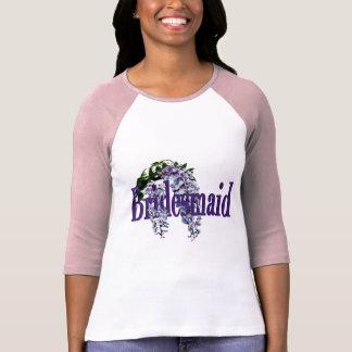 Bridesmaid/ Wisteria Wedding Tee Shirt
