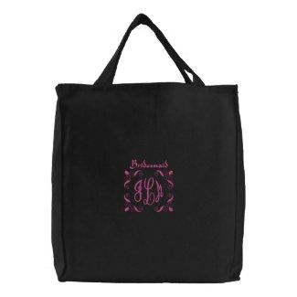 Bridesmaid with Monograms embroideredbag