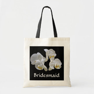 Bridesmaid with White Orchids on Bag