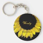 Bridesmaid Yellow Sunflower  E050 Keychain