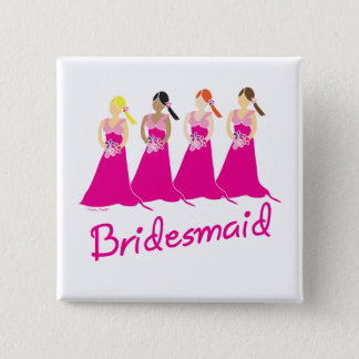 Bridesmaids Buttons and Favors