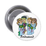 """Bridesmaids in Blue"" Wedding ID Button"
