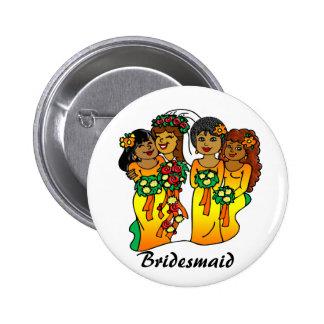 """Bridesmaids in Colors of the Sun"""" Button"""