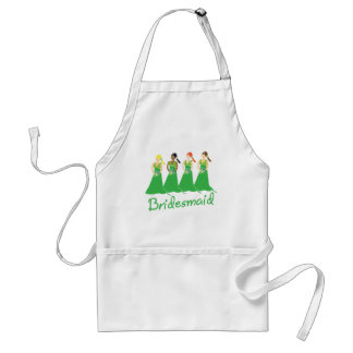 Bridesmaids in Green Wedding Attendant Adult Apron