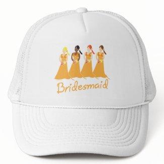 Bridesmaids in Peach Wedding Attendant Hat hat