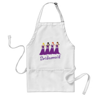 Bridesmaids in Purple Apron