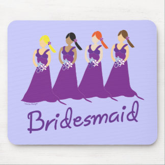 Bridesmaids in Purple Mouse Pad
