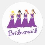 Bridesmaids in Purple Sticker