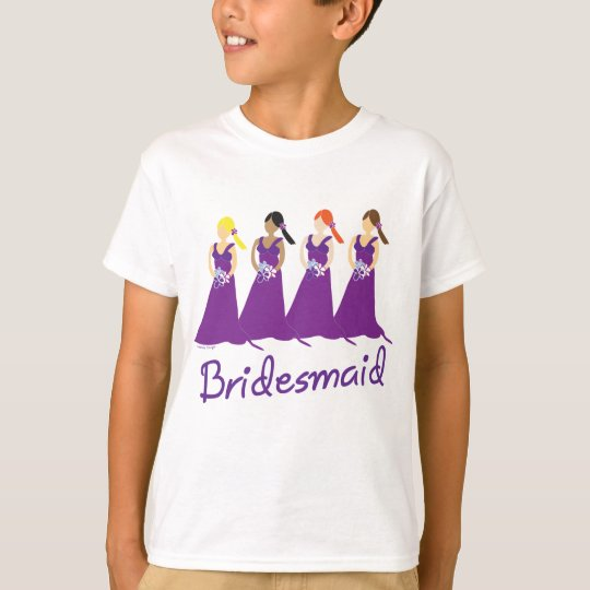 Bridesmaids in Purple T-Shirt