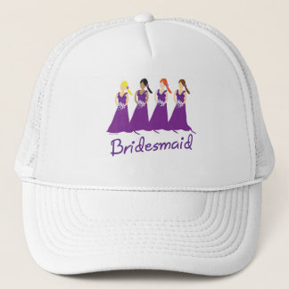 Bridesmaids in Purple Trucker Hat