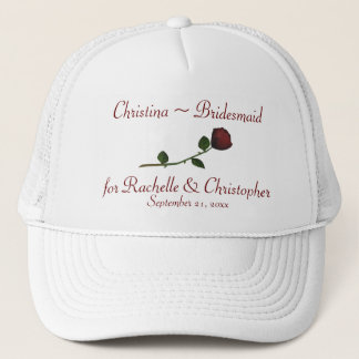 Bridesmaid's Name/Couple's Names - Long Stemmed Ro Trucker Hat