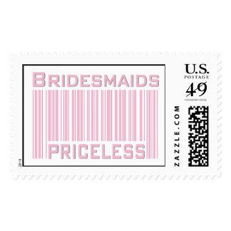 Bridesmaids Priceless Postage Stamp