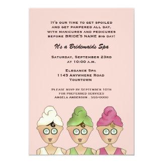 Bridesmaids Spa Invitation