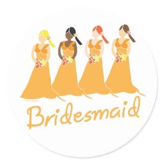 Bridesmaids Stickers sticker