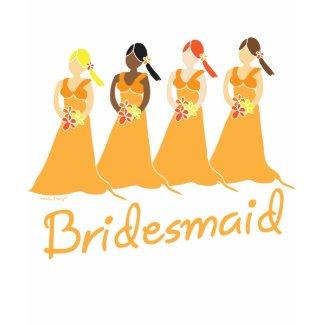 Bridesmaids T-shirt Peach Themed Weddings shirt
