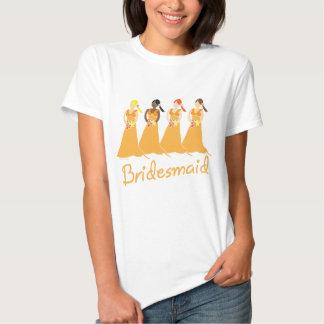 Bridesmaids T-shirt Peach Themed Weddings