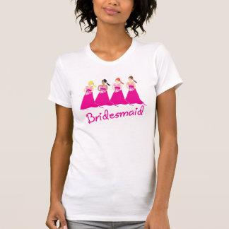 Bridesmaids T-shirt PInk Design
