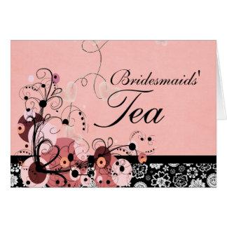 Bridesmaids' Tea Card
