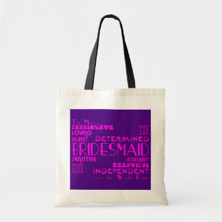 Bridesmaids Thank You Wedding Favors : Qualities Canvas Bag