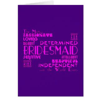Bridesmaids Thank You Wedding Favors : Qualities Greeting Card