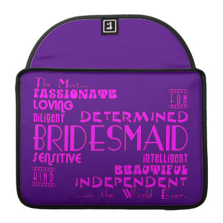 Bridesmaids Thank You Wedding Favors : Qualities MacBook Pro Sleeve