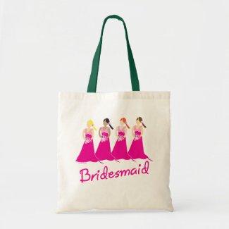 Bridesmaids Tote Bag Pink Design