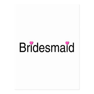 Bridesmaids with Small Hearts Postcard