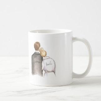Bridesman? Blonde Bun Bride Brunette Man Coffee Mug