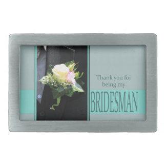Bridesman thank you belt buckle