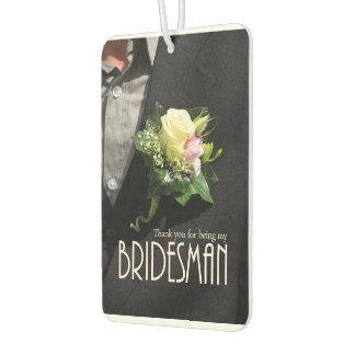 Bridesman thank you car air freshener