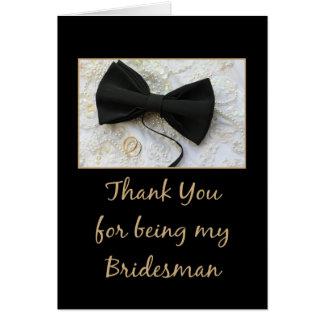 Bridesman thank you card