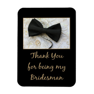 Bridesman thank you magnet