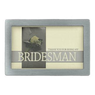 Bridesman thank you rectangular belt buckle