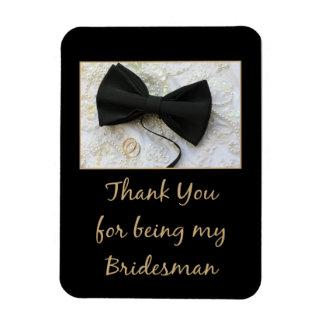 Bridesman thank you rectangular photo magnet