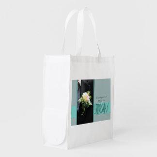 Bridesman thank you reusable grocery bag