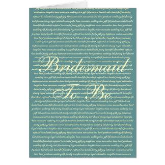 Bridesmate Invitation or Thank-you card