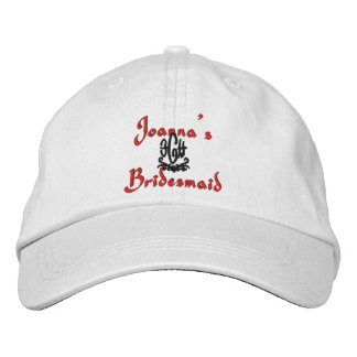 Bridesmsaid Wedding White Embroidered Hats
