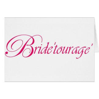 bride'tourage' line by en vogue events greeting card