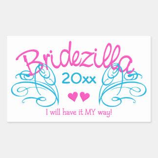Bridezilla ANY year custom stickers