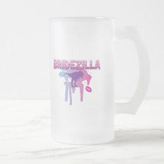 bridezilla bachelorette wedding bridal shower frosted glass beer mug