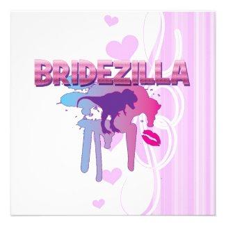 Bridezilla bachelorette wedding bridal shower invites