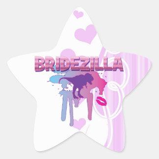 bridezilla bachelorette wedding bridal shower star sticker