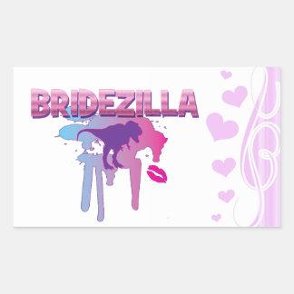 bridezilla bachelorette wedding bridal shower rectangular sticker