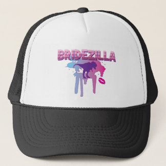 bridezilla bachelorette wedding bridal shower trucker hat