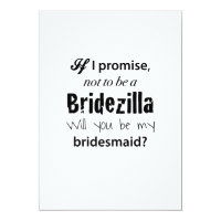 Bridezilla - Bridesmaid Invitation