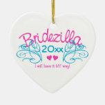 Bridezilla CUALQUIE ornamento del personalizado de Adorno Para Reyes