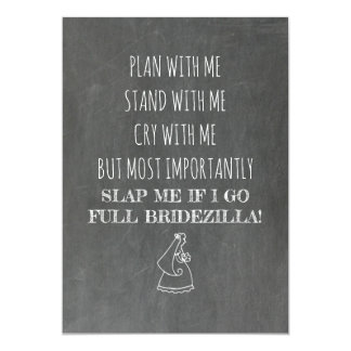 Bridezilla Funny Bridesmaid / Maid of Honor Card