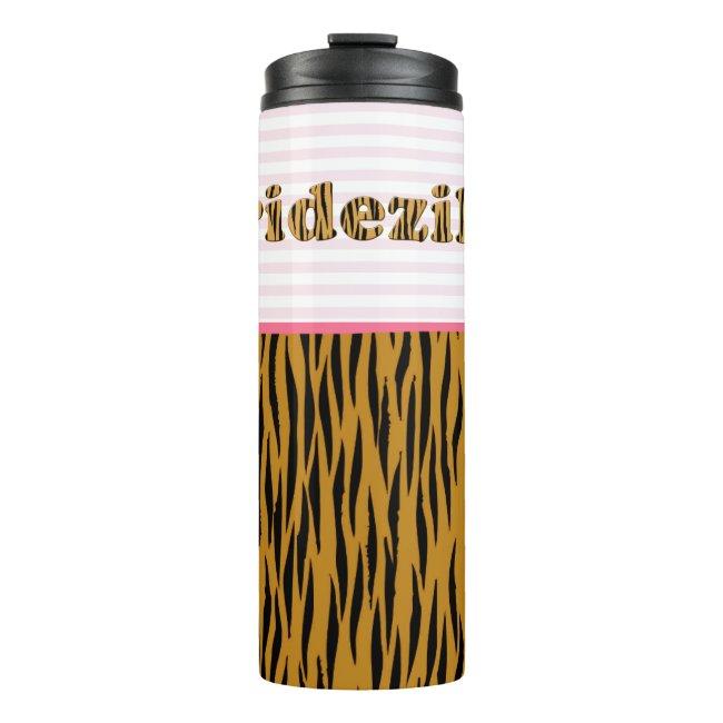 Bridezilla | Pink Stripes & Tigerprint