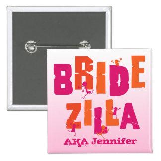 Bridezilla S Pinback Button