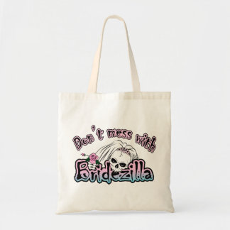 Bridezilla Skull Canvas Bag